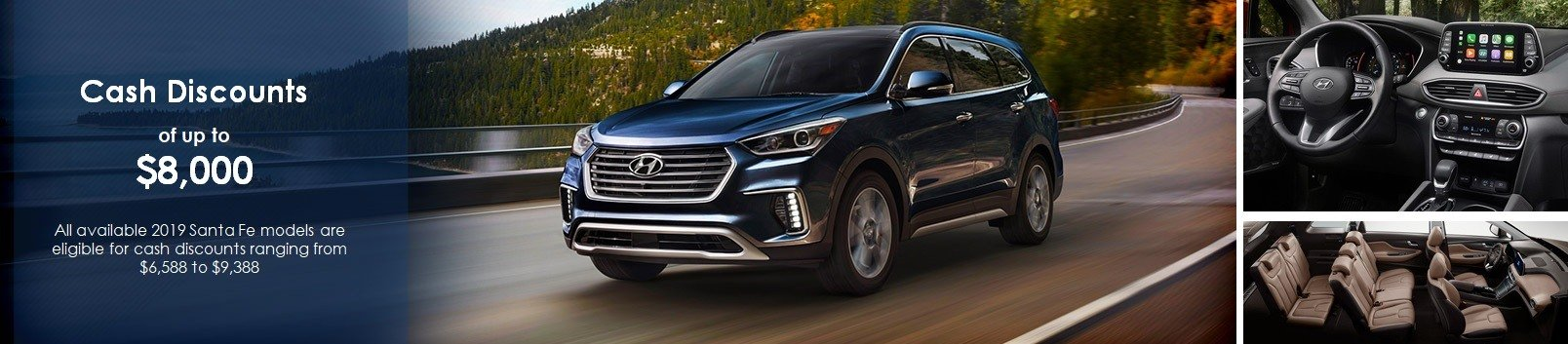 2019 Hyundai Santa Fe Special Discount Offer in GTA (both new and used 2019 santa fe inventory available)